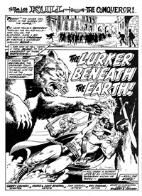 Kull the Conqueror (Yaffa/Page, 1977 series) #2 — The Lurker beneath the Earth! (page 1)
