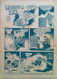 Professor Pry the Wise Guy, Page 1—Flash Cain Private Detective (KG Murray, 1949? series) #2  ([1949?])