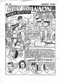 Famous Yank Police Comics (Ayers & James, 1951 series) #16 — Handsome Hunk of Homicide! (page 1)