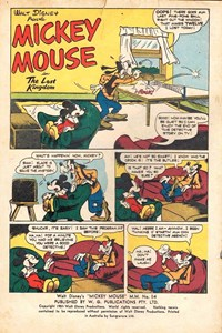 Walt Disney's Mickey Mouse [MM series] (WG Publications, 1953 series) #M.M.14 — The Lost Kingdom (page 1)