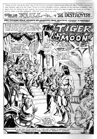 Kull the Destroyer (Yaffa, 1981 series) #6 — The Tiger in the Moon (page 1)