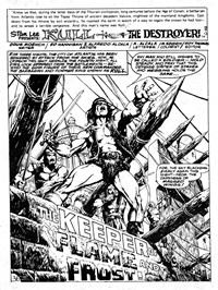 Kull the Destroyer (Yaffa, 1981 series) #6 — The Keeper of the Flame and Frost! (page 1)