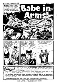 War Battles (Red Circle, 1952 series) #20 — Babe in Arms (page 1)