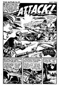 War Battles (Red Circle, 1952 series) #20 — Attack! (page 1)