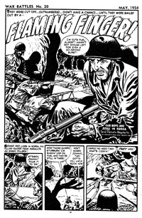 War Battles (Red Circle, 1952 series) #20 — Flaming Finger! (page 1)