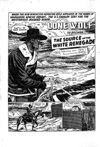 The Lone Wolf (Atlas, 1951? series) #19 — The Source of the White Renegade (page 1)