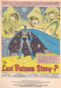 Batman and Robin (Murray, 1978 series) #16 — The Last Batman Story--? (page 1)