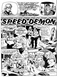 Strange Experience (Gredown, 1975 series) v1#4 — Speed Demon (page 2)