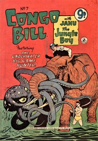 Congo Bill with Janu the Jungle Boy (Colour Comics, 1955 series) #7 — The Underwater Big Game Hunter!