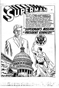 Superman Supacomic (Colour Comics, 1959 series) #64 — Superman's Mission For President Kennedy! (page 1)