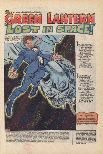 Green Lantern (DC, 1960 series) #74 — Lost in Space! (page 1)