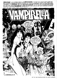 Vampirella (KG Murray, 1974 series) #7 — The Resurrection of Papa Voudou (page 1)