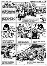 Page 1—Prince Valiant in the Days of King Arthur (Associated Newspapers, 1954 series) #11  (December 1954)