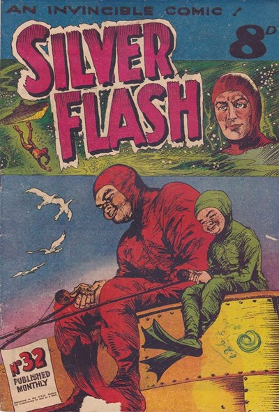 Silver Flash and his Frog-Men (Invincible, 1949 series) #32 (January 1953)