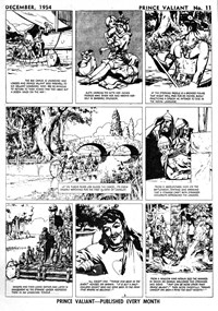 Page 2—Prince Valiant in the Days of King Arthur (Associated Newspapers, 1954 series) #11  (December 1954)