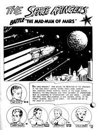 The Space Rangers Battle the Mad-Man of Mars, Page 1—Planet Series 3 (Murray, 1980 series) #11  ([December 1980?])