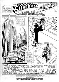 Superman Supacomic (KG Murray, 1974 series) #178 — The Skyscraper that Screamed for its Life! (page 1)