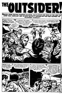 Battle Action (Horwitz, 1954 series) #12 — The Outsider! (page 1)