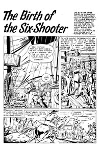 The Birth of the Six-Shooter, Page 1—Buffalo Bill (Transport, 1952? series) #23  ([1952?])