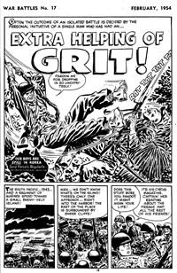 War Battles (Red Circle, 1952 series) #17 — Extra Helping of Grit! (page 1)