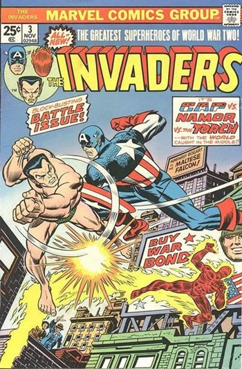 Block-Buster Battle Issue!—The Invaders (Marvel, 1975 series) #3  (November 1975)