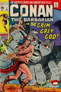 Conan the Barbarian (Marvel, 1970 series) #3 — The Grim Grey God!