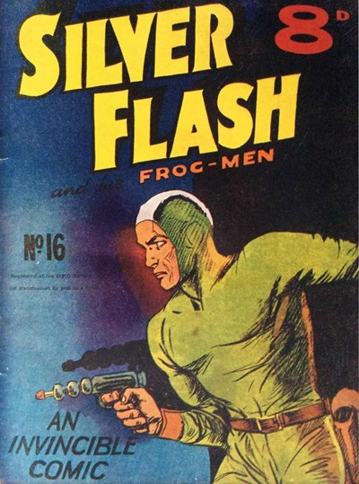Silver Flash and his Frog-Men (Invincible, 1949 series) #16 ([September 1951?])
