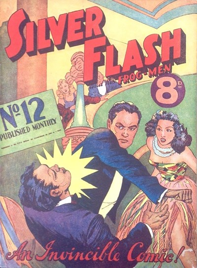 Silver Flash and his Frog-Men (Invincible, 1949 series) #12 (May 1951)