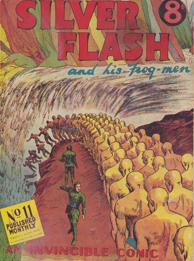 Silver Flash and his Frog-Men (Invincible, 1949 series) #11 ([April 1951?])