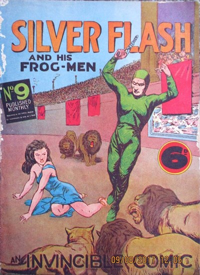 Silver Flash and his Frog-Men (Invincible, 1949 series) #9 ([February 1951?])