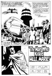 Darknight Detective (Murray, 1982?)  — The Man Who Killed Mlle. Marie! (page 1)