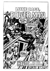 Luke Cage, Power Man (Yaffa/Page, 1977? series) #6 — Havoc on the High Iron! (page 1)