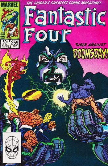 Three Against Doomsday!—Fantastic Four (Marvel, 1961 series) #259  (October 1983)