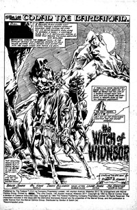 Conan the Barbarian (Federal, 1984 series) #2 — The Witch of Widnsor (page 1)