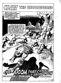The Doom that Came to K'Dasha-Dheen, Page 1—Savage Tales (Murray, 1979? series) #18  (May 1980)