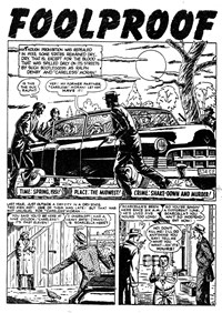 Crime Casebook (Transport, 1953? series) #16 — Foolproof (page 1)