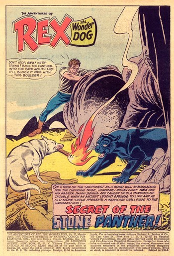 The Adventures of Rex the Wonder Dog (DC, 1952 series) #32 — Secret of the Stone Panther (page 1)
