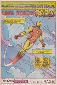 When Strikes Diablo, Page 1—The Invincible Iron Man (Federal, 1984 series) #7  ([1985?])