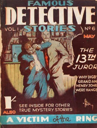 Famous Detective Stories (Frank Johnson, 1946 series) v1#6 (May 1947)
