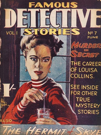Famous Detective Stories (Frank Johnson, 1946 series) v1#7 (June 1947)