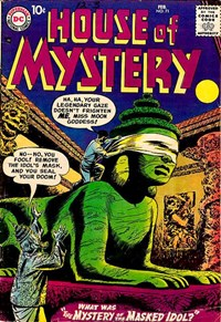 House of Mystery (DC, 1951 series) #71 — The Mystery of the Masked Idol? (Cover)