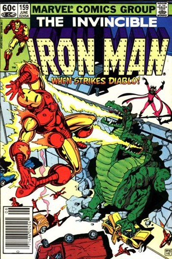 When Strikes Diablo!—Iron Man (Marvel, 1968 series) #159  (June 1982)