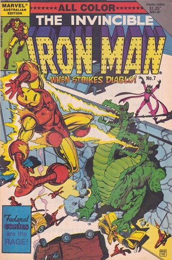When Strikes Diablo—The Invincible Iron Man (Federal, 1984 series) #7  ([1985?])