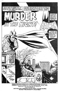 Batman Album (Murray, 1978 series) #47 — Murder in the Night! (page 1)