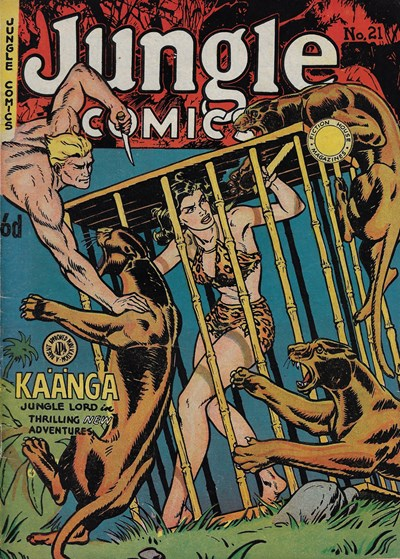 Jungle Comics (HJ Edwards, 1950? series) #21 ([June 1952?])