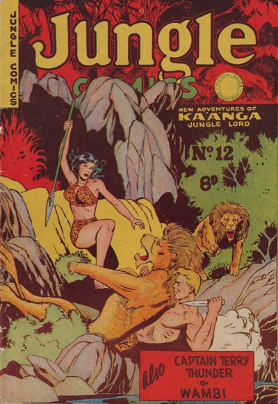 Jungle Comics (HJ Edwards, 1950? series) #12 ([September 1951?])