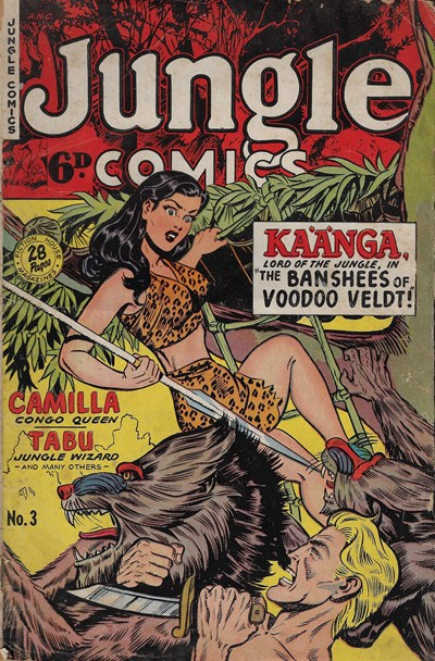 Jungle Comics (HJ Edwards, 1950? series) #3 ([December 1950?])