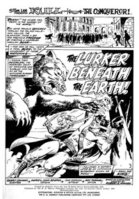 The Lurker Beneath the Earth, Page 1—Savage Tales (KG Murray, 1972 series) #10  ([March 1976?])