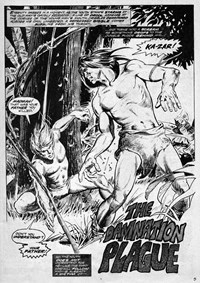 The Damnation Plague, Page 1—Savage Tales Annual (KG Murray, 1978? series) #16 ([1978?])
