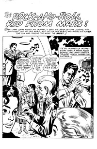 Strange Adventures (Colour Comics, 1954 series) #27 — The Rock-and-Roll Kid from Mars! (page 1)